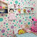 Create-A-Mural Polka Dot Wall Decals -Pastel Decor For Girls Room Stickers (Lilac,Pink,Mint) Vinyl Peel & Stick Nursery Decoration