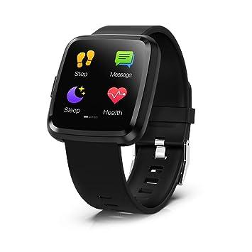Smartwatch, Hommie Reloj Inteligente con Pantalla Táctil Completa, S2 Pulsera Actividad Inteligente ImpermeableIP67 para Hombre con 8 Modos Deportes, ...