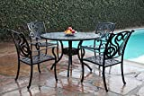 Grand Patio Furniture Outdoor Cast Aluminum 5 Piece Outdoor Dining Set PR-2 For Sale