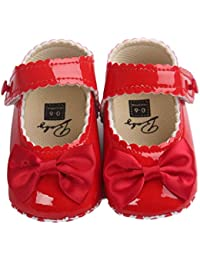 Baby Girl Bowknot Leater Shoes Sneaker Anti-slip Soft Sole Toddlerr