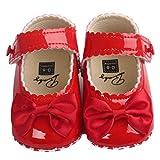 Binmer(TM) Baby Girl Bowknot Leater Shoes Sneaker Anti-slip Soft Sole Toddlerr