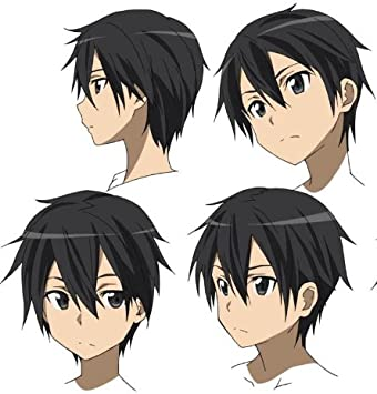 Sao Sword Art Online Anime Kirito Negro peluca fiesta Cosplay ...