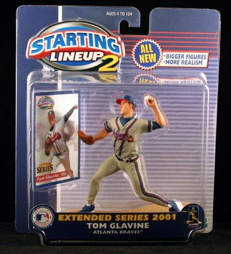 Atlanta Braves Tom (TOM GLAVINE / ATLANTA BRAVES 2001 MLB Starting Lineup 2 EXTENDED SERIES Action Figure & Exclusive Trading Card)