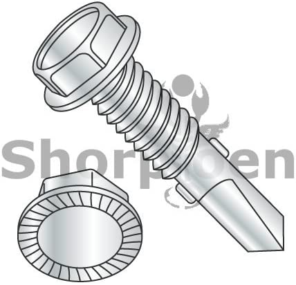 Zinc Plated Hex Drive 1//4-14 Thread Size 1-3//4 Length 1-3//4 Length 1//4-14 Thread Size Small Parts 1428ABW Steel Sheet Metal Screw Type AB Pack of 1000 Pack of 1000 Hex Washer Head