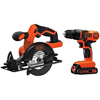 Black & Decker BD2KITCDDCS 20V MAX Drill/Driver Circular Saw Combo Kit