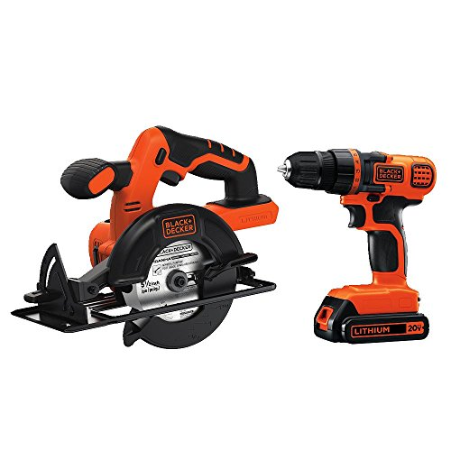 - BLACK+DECKER 20V MAX Cordless Drill/Driver Combo Kit w/ Saw (BD2KITCDDCS)