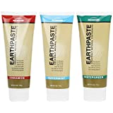 REDMOND - Earthpaste All Natural Non-Fluoride Vegan Organic Non GMO Real Ingredients Toothpaste, 3 Pack (Peppermint, Wintergreen, Cinnamon)