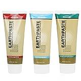 Redmond Earthpaste Natural Non-Flouride Toothpaste, 3 Pack (Peppermint, Wintergreen, Cinnamon)