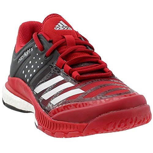 finest selection 93d5e 7c990 adidas Womens Shoes Crazyflight X Volleyball Shoe BlackMetallic  SilverPower Red ,7.5