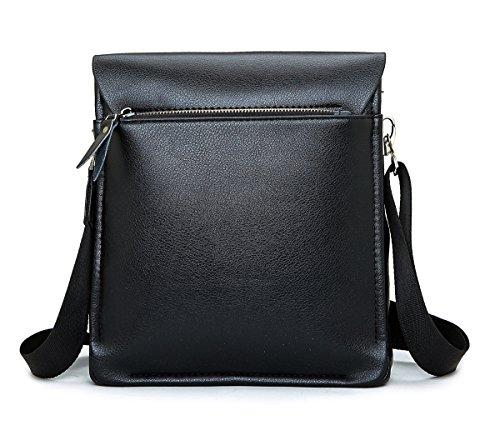 sulandy @ Hombres de la piel y de piel sintética bolso bandolera maletín bolsa café nuevo black 1606-2
