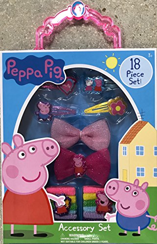 Disney & License Hair Accessory Gift Box Set For Girls,Perfect Gift Idea For Christmas,Birthday,Easter,Get Well or Any Other Occasion (Peppa Pig)