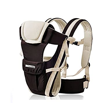 1fa9e5eb8ec Amazon.com : Ubela Baby Carrier for for Infant Toddler Child Backpack Front  Kangaroo Sling Positions Lightweight Ergonomic Carriers Easy to Wash  (Khaki) : ...