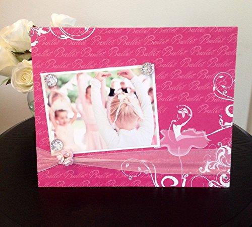 Pretty Pink Tutu Ballerina - Dance Recital Teacher Girl Woman Teen Handmade Gift Present Home Decor Magnetic Picture Frame Size 9 x 11 Holds 5 x 7 Photo - Dance Costumes Recital Competition