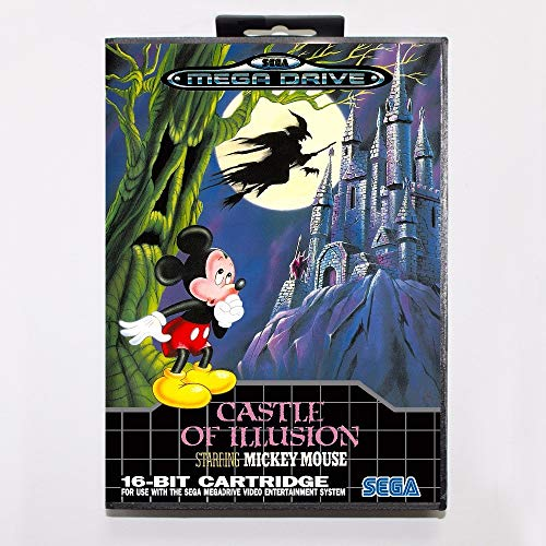 - The Crowd Tradensen Castle of Illusion Starring Mickey Mouse Game Cartridge 16 Bit Md Game Card with Retail Box for Sega Mega Drive for Genesis