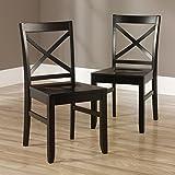 Harbor View X-Back Chair Anti Blck 2/set