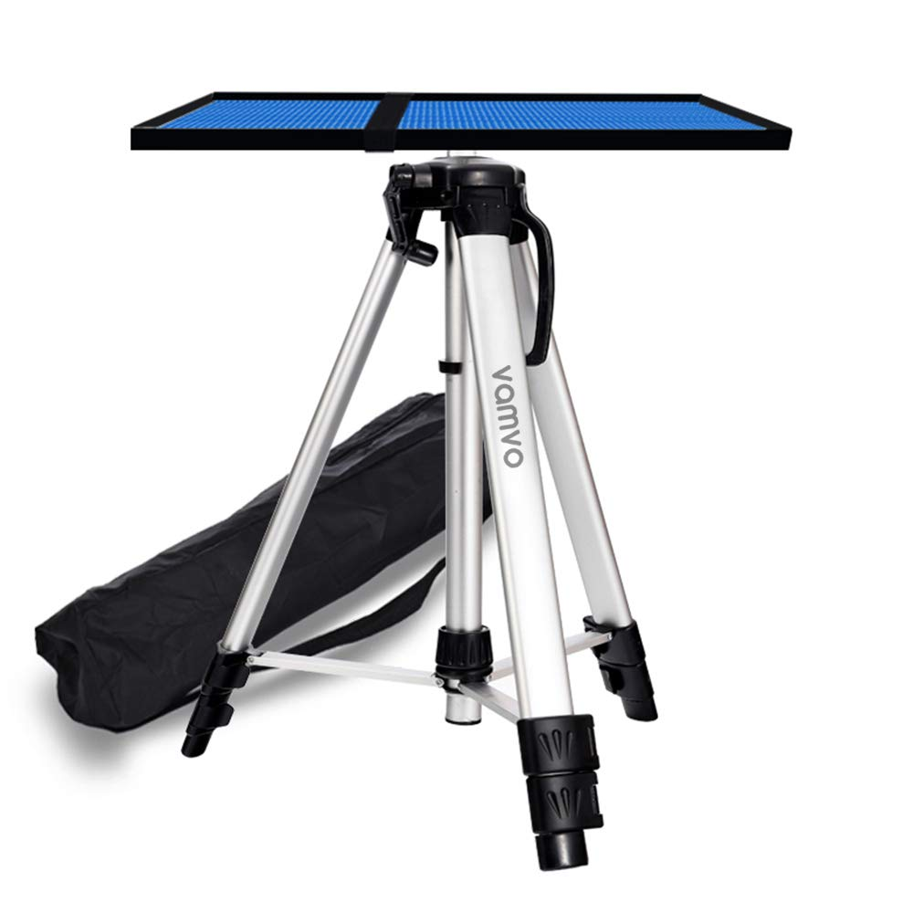 vamvo Aluminum Tripod Projector Stand, Adjustable Laptop Stand, Multi-Function Stand, Computer Stand Adjustable Height 17'' to 46'' for Laptop with Plate and Carrying Bag