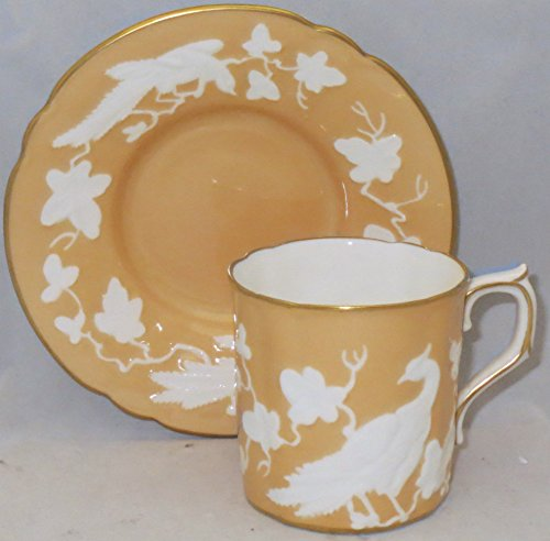 Royal Crown Derby Replacements (Royal Crown Derby Chinese Birds (Beige) Flat Demitasse Cup & Saucer Set)