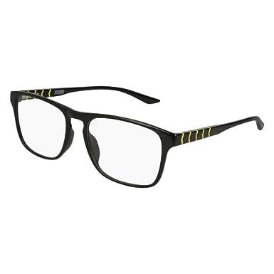 c7c1d406a74 Eyeglasses Puma PU 0135 O- 001 BLACK   Amazon.co.uk  Clothing