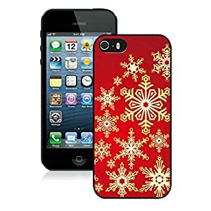 Custom Iphone 5S Protective Cover Case Christmas Snowflake iPhone 5 5S TPU Case 5 Black