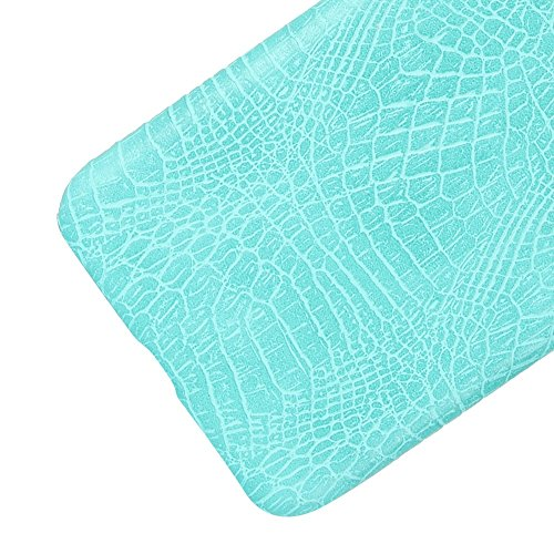 YHUISEN Patrón de piel de cocodrilo clásico de lujo [ultra delgado] cuero de la PU anti-rascar la cubierta protectora de la caja dura de la PC para Asus Zenfone 3 Max ZC553KL (5.5 pulgadas) ( Color :  Light Green