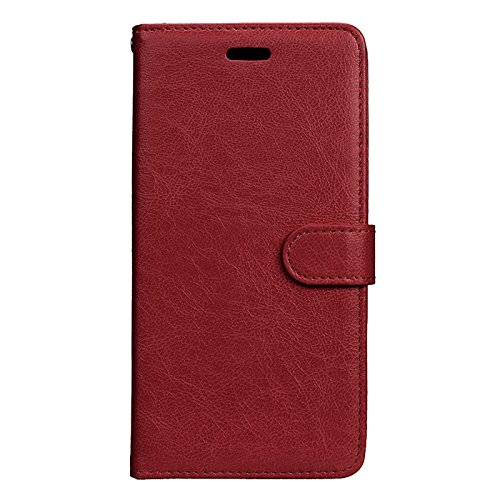 Anzeal Xiaomi Redmi 3S Case,[Stand Function] [3 Card Slots] PU Folio Flip Wallet With Strap Magnetic Case Leather Protective Cover for Xiaomi Redmi 3S Brown