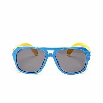 HJXJXJX Das Silikonmaterial, Jungen und Mädchen Kinder Sonnenbrille Polarisator