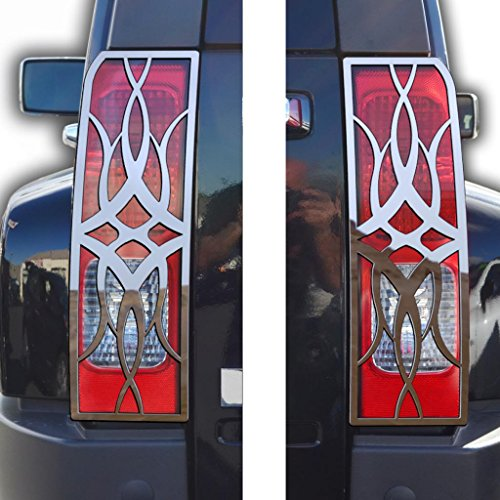 Ferreus Industries Polished Stainless Tribal Brake Light Trim fits: 2005-2010 Hummer H3 OTH-101-11