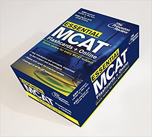 essential mcat flashcards online quick review for every mcat subject
