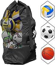 AvoDovA Extra Large Mesh Ball Bag, Adjustable Drawstring Ball Bag Waterproof Equipment Bag with Strap for Bask