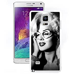 Customized Note4 Case Design with Marilyn Monroe 2 Cell Phone Cover Case for Samsung Galaxy Note 4 N910S N910C in White