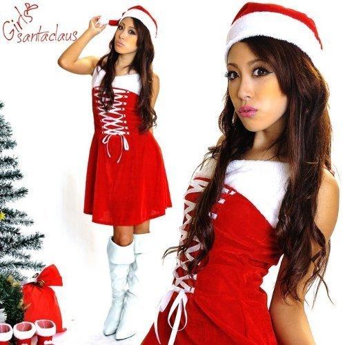[Set of 2 lace-up corset-style] Santa costume / cosplay Santa Christmas Xmas (japan import) by Luna style
