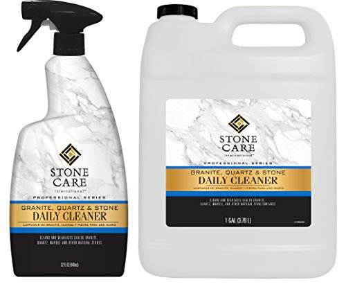Stone Care International Granite Cleaner - Value Pack - 32 Ounce Trigger and 1 Gallon - Granite Marble Quartz Tile Travertine Limestone Slate Daily Cleaner ()