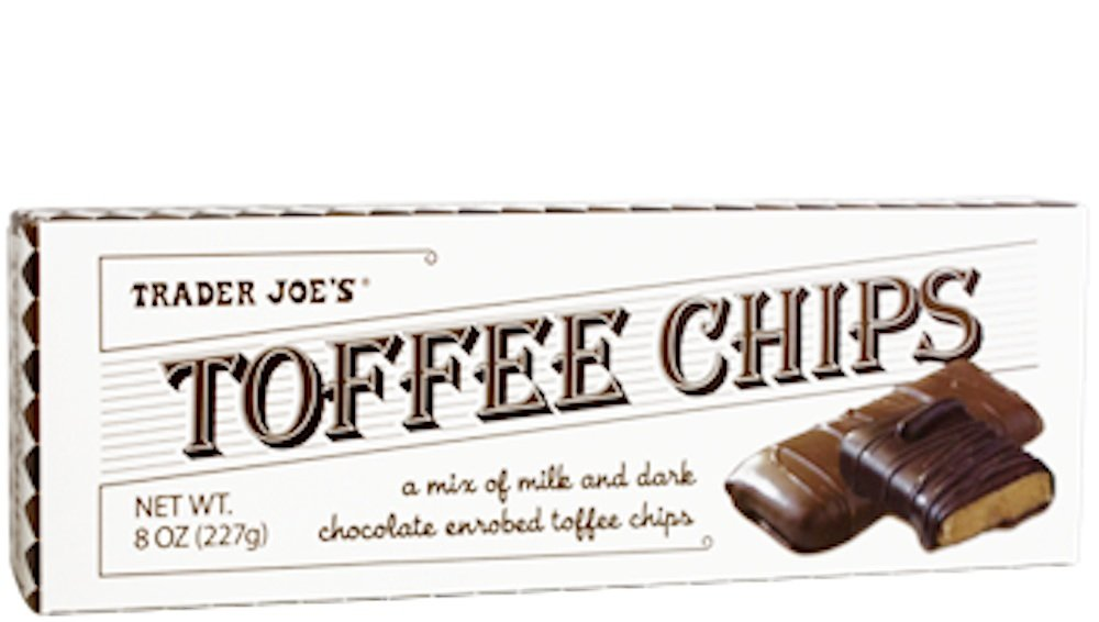 Trader Joe's Toffee Chips 8 Oz (Pack of 4)