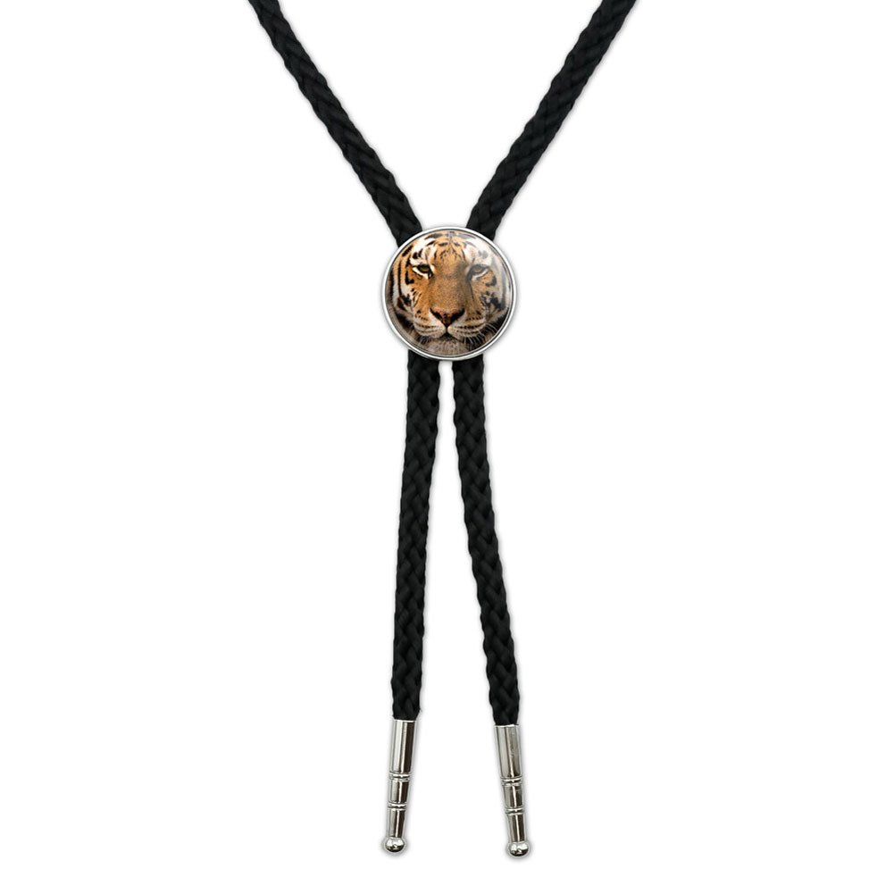 Bengal Tiger Face Western Southwest Cowboy Necktie Bow Bolo Tie Graphics and More BOLOTIE.PL.0386