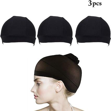 Gorra de la peluca, Kapmore 3PCS gorra de redecilla elástica ...