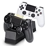 PS4 Controller Fast Charger, Megadream Playstation Dual USB Charging Bottom Dock Station, Overcharged protection for Sony DualShock 4 PS4, PS4 Pro, PS4 Slim
