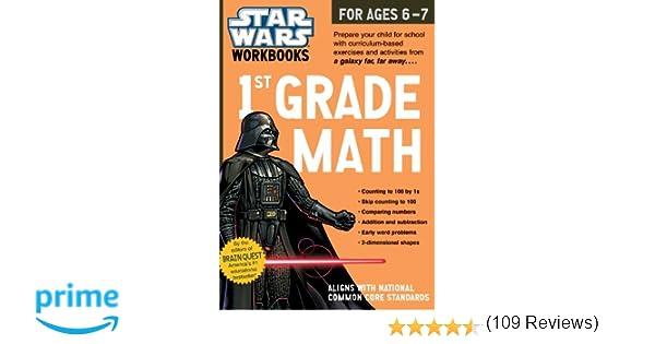Star Wars Workbook: 1st Grade Math (Star Wars Workbooks): Workman ...