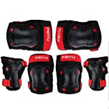 Genma0A Kids Ski Knee Pads Bike Knee Pads and Elbow Pads with Wrist Guards Protective Gear Set for Scooter, Skateboard, Bicycle, inline skatings