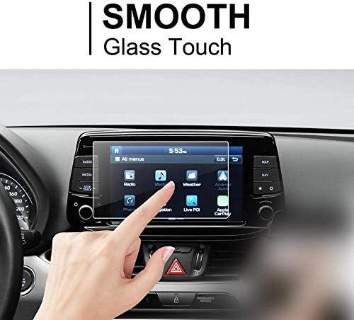 XHULIWQ ナビゲーションスクリーンプロテクターカータッチディスプレイ9H硬度強化ガラス保護フィルム、新しいi30 I30 ESTATE I30N 8inch用