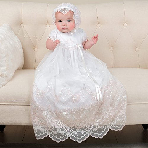40da5858c6f Amazon.com: Joli Baby Girl Lace Christening dress Baptism gown ...