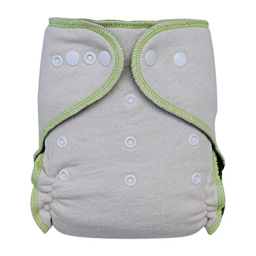 - Fitted Cloth Diaper: Overnight Diaper with Bamboo and Hemp Inserts, One Size with Snap Buttons (1-pack)