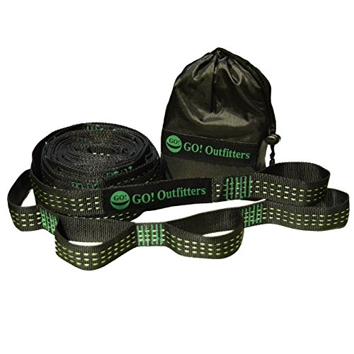 Go Outfitters Quick Link Hammock Tree Straps Set by Go Outfitters