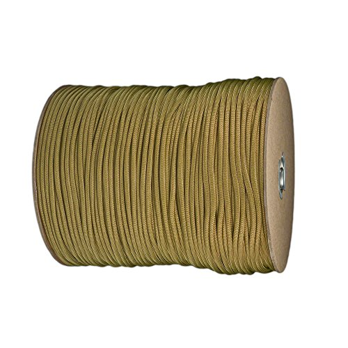 Paracord Planet Nylon 7 Type III Strand Inner Core Paracord - 100 Feet, Gold
