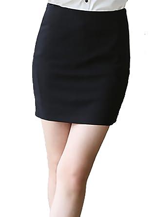 e476ef7db Comvison Women Formal Black Business Attire Work Wear Skirt Career Apparel Pencil  Skirts XS