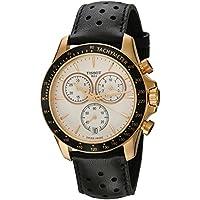 Tissot Men's V8 T106.417.36.031.00 Gold Leather Swiss Quartz Dress Watch