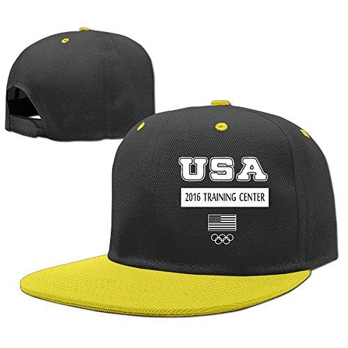 SYY Boys Trucker Cap Hats Mesh USA 2016 Training Center Yellow -