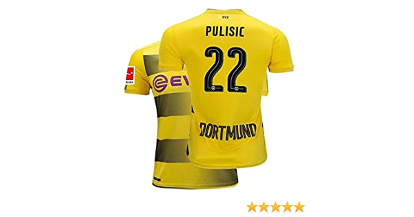 b6bf8b0b1e4 Amazon.com: Fcdraon Mens Pulisic Jersey 2017/18 Borussia Dortmund Christian  22 BVB Home Adult Soccer Yellow: Clothing