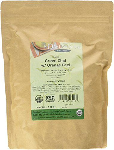 Davidson's Tea Bulk, Green Chai with Orange Peel, 16-Ounce Bag Spice Green Tea