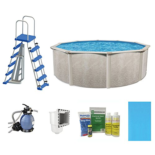 "Cornelius Pools Phoenix 18' x 52"" Frame Above Ground Pool Kit with Pump & Ladder"