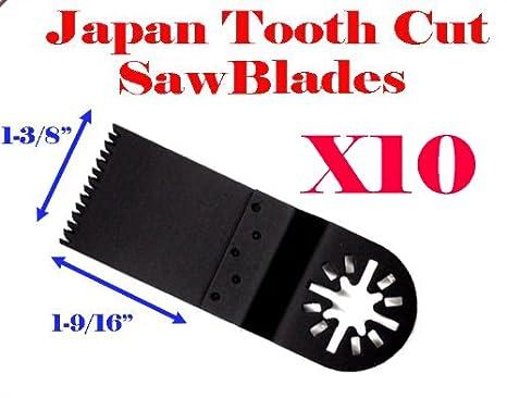 MTP TM Pack of 10 Japan Tooth Fast Cut Oscillating Multi Tool Saw Blade for  Fein Multimaster Bosch Multi-x Craftsman Nextec Dremel Multi-max Ridgid